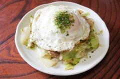 川島けん 公式ブログ/[Lunch]小焼きそば目玉焼きのせ 画像1