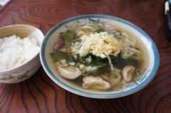 川島けん 公式ブログ/[Lunch]椎茸うどんと小ご飯。 画像1