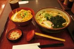 川島けん 公式ブログ/[Lunch]杵屋・うどんとミニカツ丼セット 画像1
