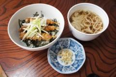 川島けん 公式ブログ/[Lunch]焼き鳥丼と小かけそば。 画像1