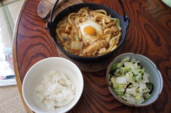 川島けん 公式ブログ/[Lunch]味噌煮込みうどんと白菜漬け 画像1