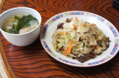 川島けん 公式ブログ/[Lunch]肉野菜餡かけ飯。 画像1