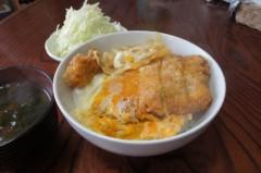川島けん 公式ブログ/[Lunch]カツ丼キャベツ 画像1