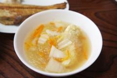 川島けん 公式ブログ/[Lunch]縞ほっけの一夜干しと鳥団子の春雨スープ。 画像2