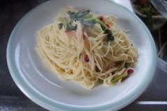 川島けん 公式ブログ/[Lunch]小松菜とタコのガーリックソースパスタ 画像3
