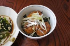 川島けん 公式ブログ/[Lunch]冷やしたぬきうどんと小つくね丼。 画像3
