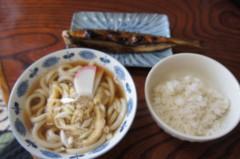 川島けん 公式ブログ/[Lunch]米米サンマと刻みうどん。 画像1