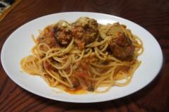 川島けん 公式ブログ/[Lunch]ミートボールスパゲッティ 画像1