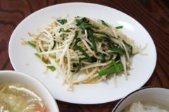 川島けん 公式ブログ/[Lunch]もやしにら炒めと鳥ワンタン春雨スープ。 画像3