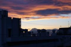川島けん 公式ブログ/[夕焼けハンター]富士山現る! 画像1