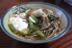 川島けん 公式ブログ/[Lunch]青梗菜とちくわ舞茸そば 画像1