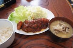 川島けん 公式ブログ/[Lunch]煮込みハンバーグとキノコの味噌汁。 画像1