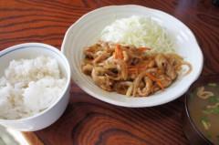川島けん 公式ブログ/[Lunch]生姜焼き定食。 画像1