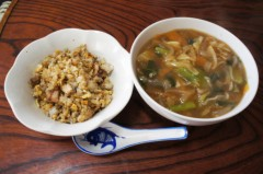 川島けん 公式ブログ/[Lunch]野菜あんかけラーメンとミニチャーハン 画像1