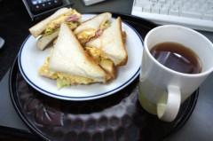 川島けん 公式ブログ/[Lunch]卵ハムレタスサンド 画像1