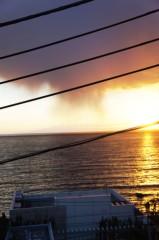 川島けん 公式ブログ/窓の外は見事な夕日 画像3