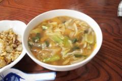 川島けん 公式ブログ/[Lunch]野菜あんかけラーメンとミニチャーハン 画像2