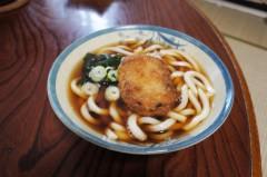 川島けん 公式ブログ/[Lunch]コロッケうどん。 画像1