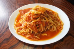 川島けん 公式ブログ/[Lunch]白菜とイカのトマトソースパスタ 画像1