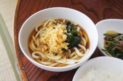 川島けん 公式ブログ/[Lunch]小たぬきうどんと小牛バラニラ炒めライス。 画像2