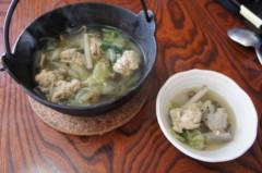 川島けん 公式ブログ/[Lunch]鉄鍋で野菜煮込みうどん。 画像1