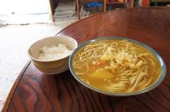 川島けん 公式ブログ/[Lunch]カレー南蛮そばと小ご飯。 画像1