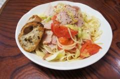 川島けん 公式ブログ/[Lunch]トマトキャベツベーコンパスタ 画像1