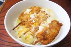 川島けん 公式ブログ/[Lunch]串かつ丼と野菜とイカ餡カタヤキソバ 画像1