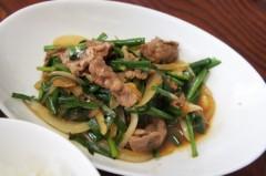 川島けん 公式ブログ/[Lunch]小たぬきうどんと小牛バラニラ炒めライス。 画像3