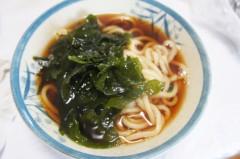 川島けん 公式ブログ/[Lunch]わかめうどん 画像1