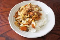 川島けん 公式ブログ/[Lunch]豚バラキャベツ味噌炒めご飯 画像1