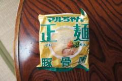 川島けん 公式ブログ/[Lunch]マルちゃん正麺:とんこつ味、小塩豚バラ丼 画像1