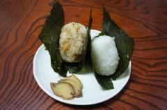 川島けん 公式ブログ/[Midnight snack]おかかと鮭のおにぎり 画像1