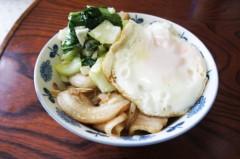 川島けん 公式ブログ/[Lunch]生姜焼き丼目玉焼きのせ 画像1