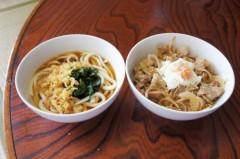 川島けん 公式ブログ/[Lunch]小たぬきうどんと小豚バラ丼。 画像1