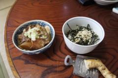 川島けん 公式ブログ/[Lunch]山ワサビ丼と鶏皮煮込み。 画像1