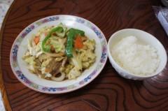 川島けん 公式ブログ/[Lunch]キャベツ野菜炒め 画像1
