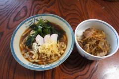 川島けん 公式ブログ/[Lunch]わかめたぬきうどんと小豚丼 画像1