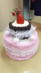 永井健二 公式ブログ/タオルケーキに挑戦! 画像1