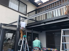 新人 公式ブログ/ビフォアフター N邸 テント工事 画像1