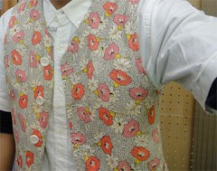 新人 公式ブログ/ファッションチェ〜ク  花柄 ジレ 画像1