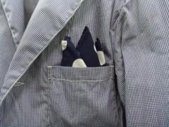 新人 公式ブログ/ファッションちぇ〜く  昨日のポケットチーフは 画像1