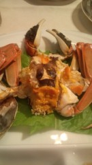 大峯麻友 プライベート画像 上海蟹?