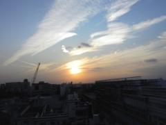 川上清美 公式ブログ/夕日♪ 画像1