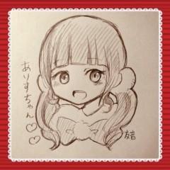 寺沢ありす(アイドル教室) プライベート画像/ファンの子から! 似顔絵( U+2661 ´罒` U+2661 )