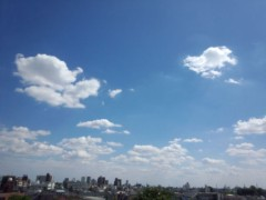蜂谷由貴 公式ブログ/夏のくもー! 画像1