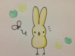 関口愛美/ライブフローリスト愛眠 プライベート画像/ひよこウサギ ほのぼの