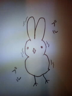 緊張ひよこウサギ