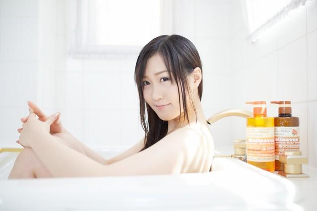初のお風呂フォト