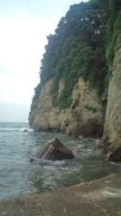 白 プライベート画像 崖だ